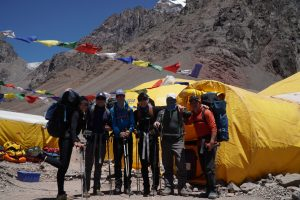 Leaving Base Camp on Aconcagua