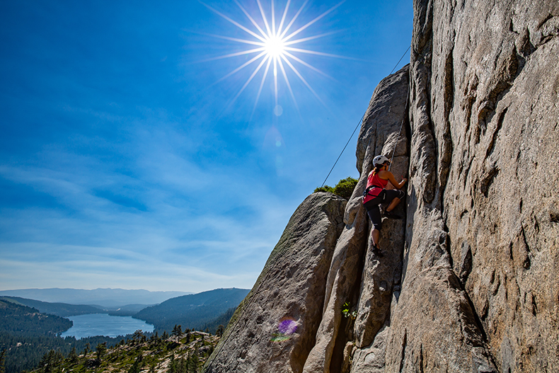 Intro To Outdoor Rock Climbing In Lake Tahoe Donner Summit Alpenglow
