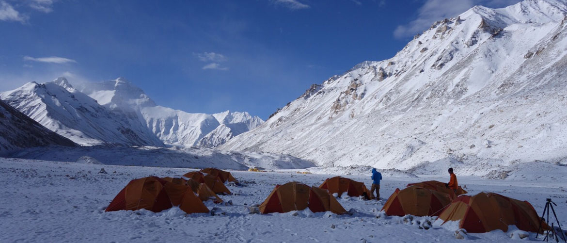 Base camp on the North Side of Everest