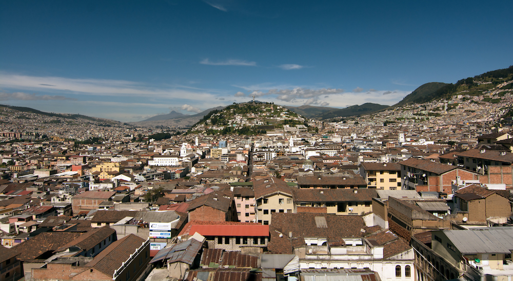 Overlooking Quito in Ecuador during Alpenglow Expeditions Ecuador Climbing School
