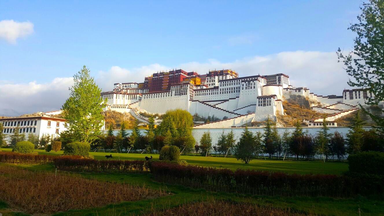 Potala Palace in Tibet on the road to Mount Everest