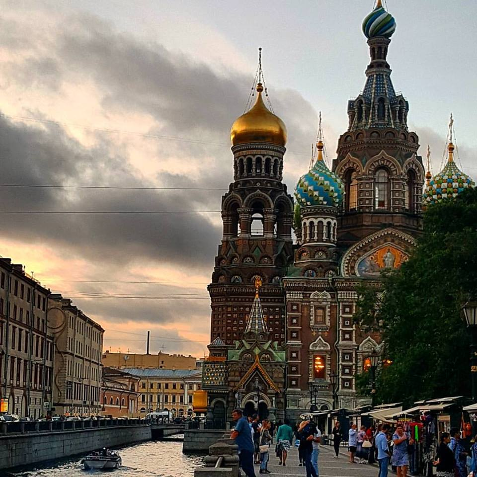 Turrets in St Petersburg on the road to climb Mt Elbrus