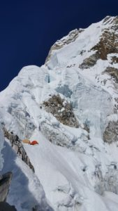 Looking at high camp on Ama Dablam