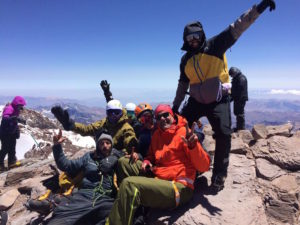 Aconcagua summit, group photo