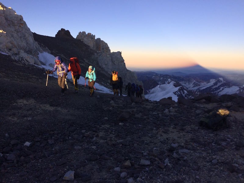 Aconcagua summit at sunrise