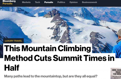 Bloomberg: This Mountain Climbing Method Cuts Summit Times in Half