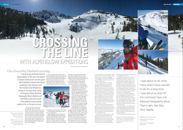 Tahoe Weekly: Crossing the Line with Alpenglow Expeditions
