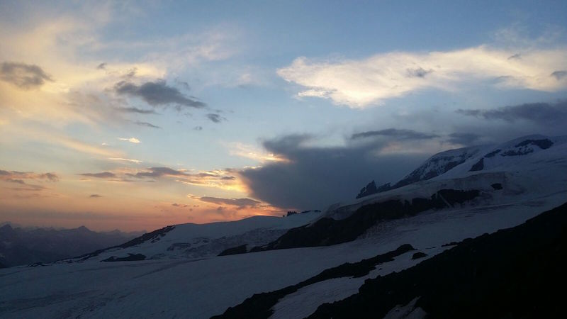 Elbrus sunset