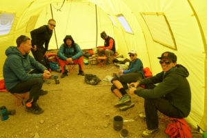 camp 1 on Aconcagua with Alpenglow Expeditions