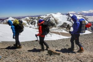 moving to camp 3 on Aconcagua