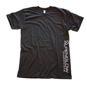 Alpenglow Custom T-Shirt Black