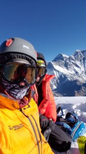 Summit photo on Ama Dablam