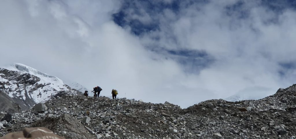 The team has been progressively hiking higher on the mountain to acclimatize, and they are dialing in their summit window.