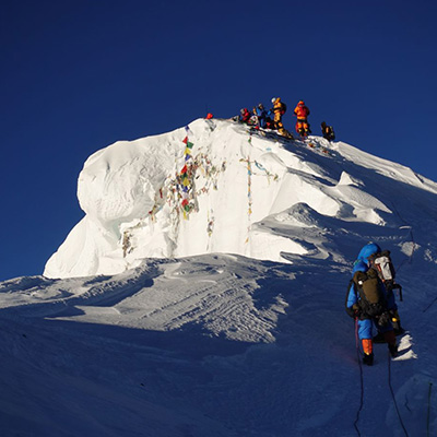 Approaching the summit from the northside of Everest