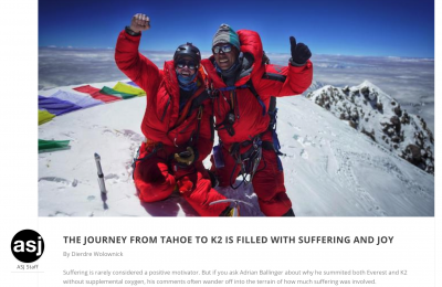 Adventure Sports Journal: K2 Article