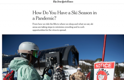 New York Times: How Do You Have a Ski Season in a Pandemic?